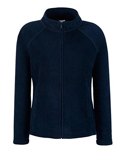 F854 Lady-Fit Full-Zip Fleece Jacke Fleecejacke, Farbe:Deep Navy;Größen:M Womens Gefütterte Regen Jacke