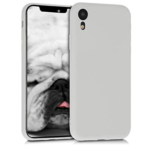 kwmobile Apple iPhone XR Hülle - Handyhülle für Apple iPhone XR - Handy Case in Hellgrau matt Iphone-gadget