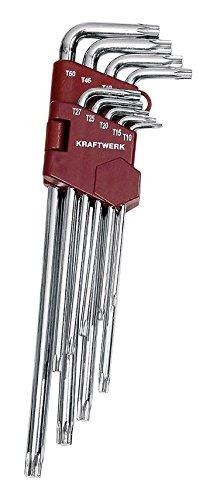 Kraftwerk-clés 3607-9 pzs.Set Mâle Coudée TX-T10 T50