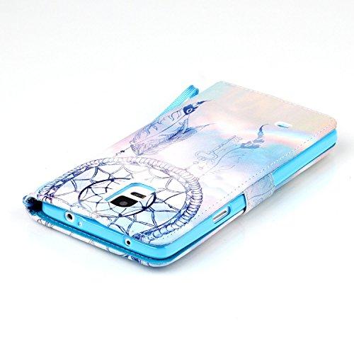 Meet de Samsung Galaxy Note 4 Bookstyle Étui Housse étui coque Case Cover smart flip cuir Case à rabat pour Galaxy Note 4 Coque de protection Portefeuille - this iphone is locked slide to unloke campanule