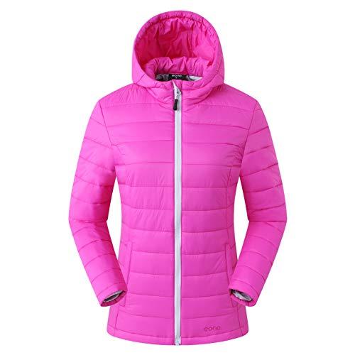 Eono Essentials Damen Thermo-Steppjacke, Pink, XL