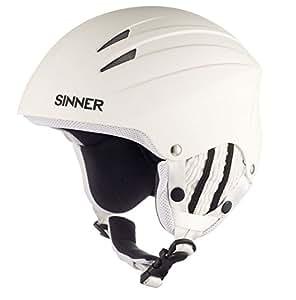 Sinner Empire Casque de ski Blanc Mat Taille XS