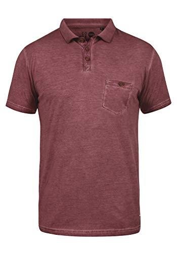 !Solid Termann Herren Poloshirt Polohemd T-Shirt Shirt mit Polokragen aus 100% Baumwolle, Größe:XL, Farbe:Wine Red (0985) -