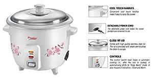 Prestige Delight Electric Rice Cooker PRWO 0.5 (300 watts) Cooks Upto 250 g Rice (White)