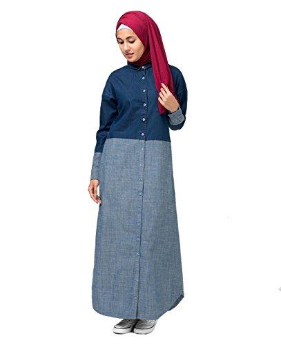 Fine Denim Shirt Abaya Regular 52