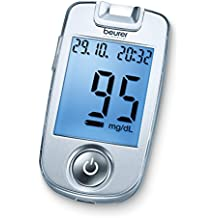 Beurer GL40 (mg/dL) - Medidor de glucosa (85 mm, 47 mm, 14 mm) Color blanco