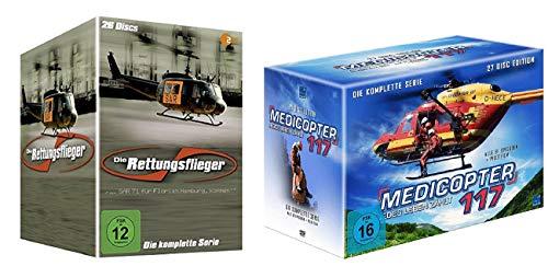 Die Rettungsflieger - Komplettbox Staffel 1-11 [26 DVDs] + Medicopter 117 - Jedes Leben zählt - Gesamtedition Box [27 DVDs]