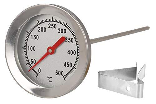 Lantelme - Termómetro de Acero Inoxidable de 500 °C, 15 cm, sonda...