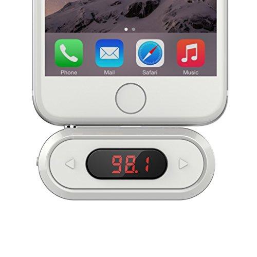 FM-Transmitter, Doosl® 3.5mm FM Transmitter mit Display Musik Empfänger für iPhone /6/5, iPad, iPod, Samsung Geräte und Alle Smartphones-Weiß (Fm-empfänger Für Handy)