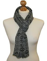 Trendy peace print detail scarf/wrap/head scarf/pashmina