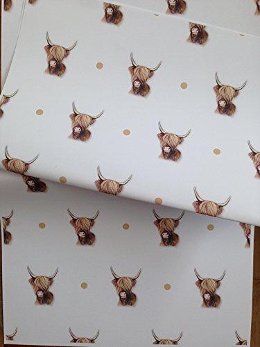 Highland Kuh, Geschenkpapier, Geschenkpapier, für Highland Kuh Liebhaber