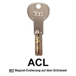 ISEO R6mc Ersatzschlüssel, Zusatzschlüssel, Nachschlüssel - Schlüssel für ISEO R6 Wendeschlüsselzylinder - für alle ACL-MC Schließungen - ACL000001 bis ACL002462 - nachträglicher Schlüssel nach Code / Schließung - mit Magnet-Codierung