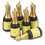 Champagner-Flaschen, Kerzen-Set ca. 55mm, 6 Stk.