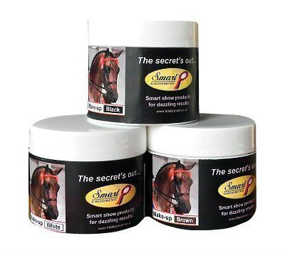 Maquillaje para caballos y ponys Smart Grooming - 50 gramos - Blanco