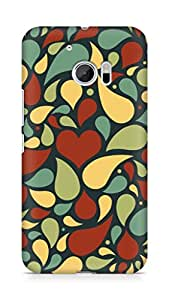 Amez designer printed 3d premium high quality back case cover forHtc One M10 (water droplets)