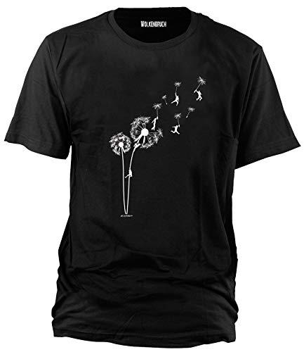 Wolkenbruch® T-Shirt Puste mal Blume, schwarz, Gr.M - Emo T-shirt