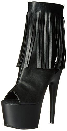 Pleaser Adore, Bottes Classiques femme, Noir, 38 EU Blk Faux Leather/Blk Matte