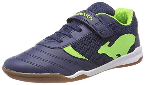 KangaROOS Unisex-Kinder Chelo Comb EV Sneaker, Blau (Dk Navy/Lime), 32 EU