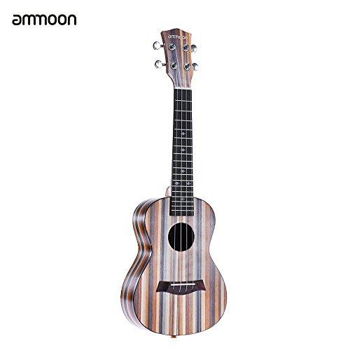 ammoon-24-Acstica-de-Madera-Ukelele-Soprano-Ukulele-Uke-18-Trastes-4-Cuerdas-Okoume-Cuello-Palisandro-Instrumento-de-Cuerda-Regalo-Musical