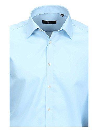 Venti Messieurs Chemise d'affaires Également disponible en grandes tailles 100 % coton bleu pastel
