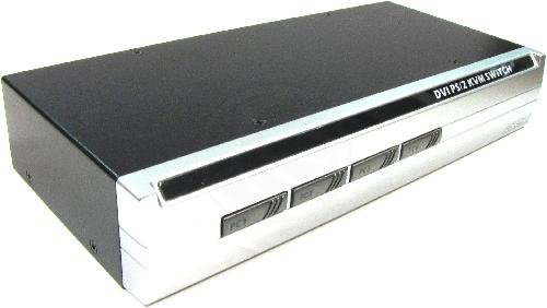 Cablematic - Uniclass KVM Switch PS2 DVI 1920x1200 1KVM zu 4CPU