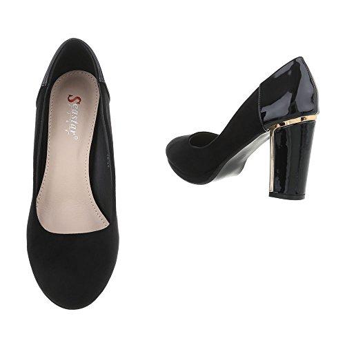 Design hauts Ital talons Chaussures à femme Schwarz JL28 7qaw4qx