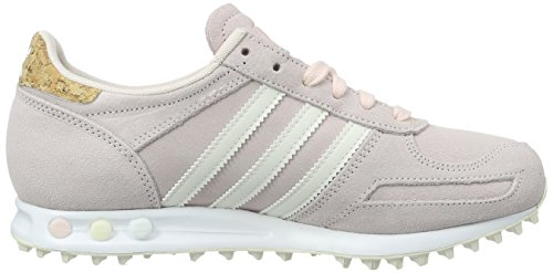 adidas La Trainer, Chaussures de Running Compétition Femme Rose (Halo Pink/Off White/ White)