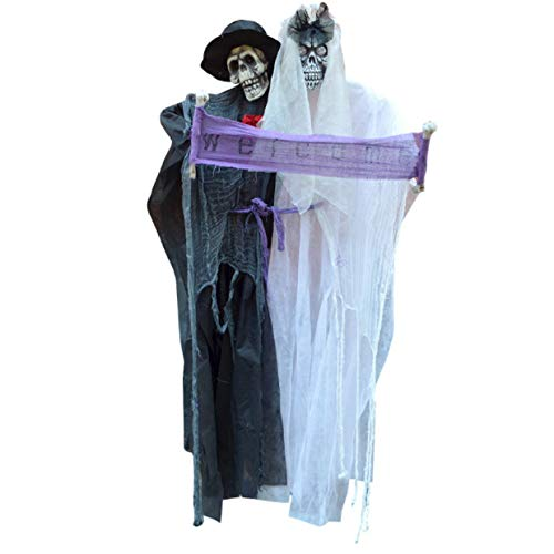 Kostüm Haloween Einfach - Yuahwyehe Der Verbundenen Hängenden Geist Der Bräutigambraut Begrüßt Perfekt Für Eine Spaßige Erinnerung,Halloween, Weihnachten, Ostern, Karneval, Kostüm-Partys