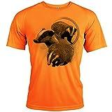 Photo de Pets-easy t Shirt Chasse Motif Blaireau [avec Texte Personnalisable] par Pets-easy