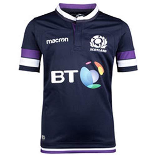 Wangyan Herren Rugby Trikot Herren Schottland Rugby Trikots Offizielles Rugby World Cup 2019 Polyester Jersey Graphic T Shirt für Herren,Blue,XL - Rugby World Cup T-shirts