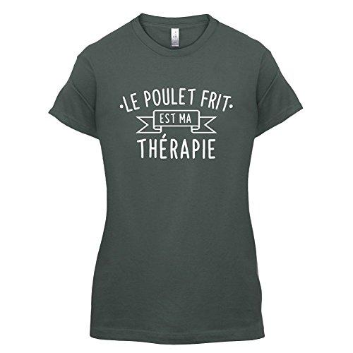 Le poulet frit est ma thérapie - Femme T-Shirt - 14 couleur Gris Foncé