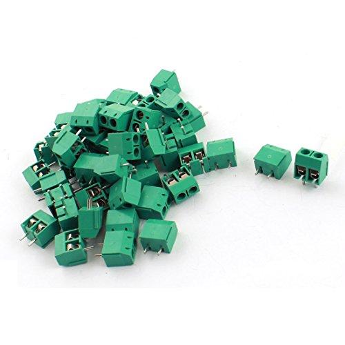 50 Stück, 300 V 15A 2-Leiterplatte Screw Terminal-Block-Stecker 5 mm Pitch -