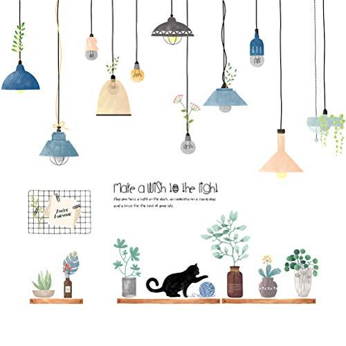 Garneck wandaufkleber abnehmbare selbstklebende wandaufkleber kronleuchter muster tür wanddekor aufkleber für wohnzimmer schlafzimmer kindergarten -