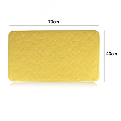 LYJ Tapis de bain Mat antidérapant TPR Protection de l'environnement Tapis de bain insipide 40 * 70 Cm Séchage rapide
