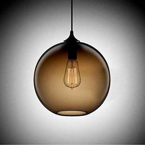 Cozyle Pendentif Vintage suspension à lumière en verre Shades Café