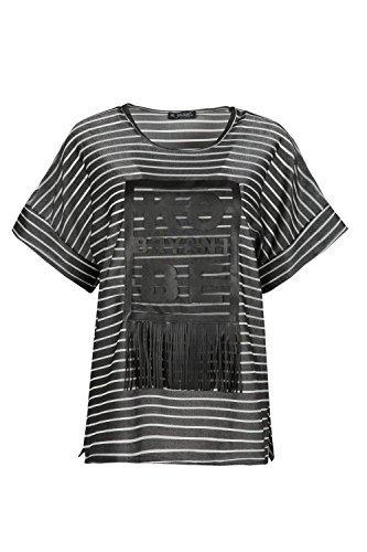 Oops Outlet Damen Seitenschlitz Ko Byrant Be Übergröße Troddel Netz Damen Quaste T-shirt Top Dunkelgrau