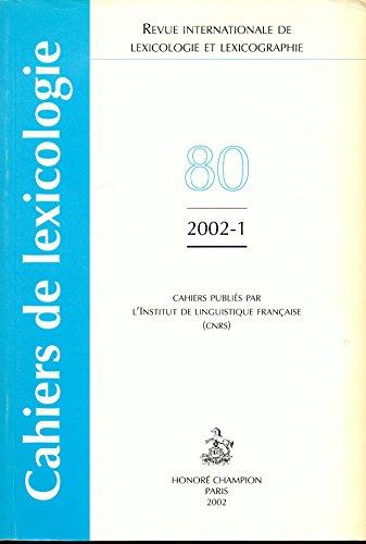 Revue internationale de lexicologie et lexicographie : Hommage  Andr Clas