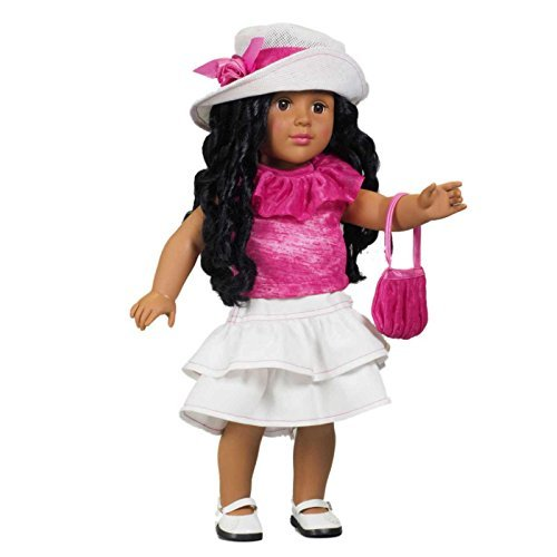 fe4565168b5 The Queen s Treasures White Ruffled Skirt and Hot Pink Shirt Fits 18 inch  Doll. Matching