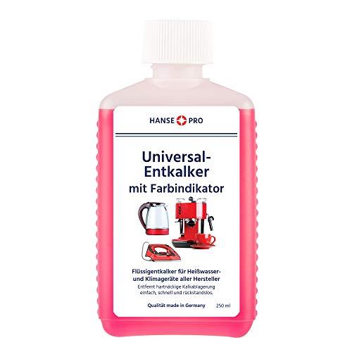 Hansepro Entkalker mit Farbindikator, 250 ml I Flüssig-Entkalker I Universal-Entkalker I Kalklöser...