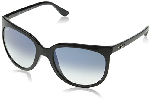 Ray-Ban RAYBAN Damen Sonnenbrille 4126, Black/Cleargradientblue, 57