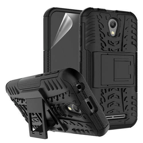 betterfon | Outdoor Handy Tasche Hybrid Case Schutz Hülle Panzer TPU Silikon Hard Cover Bumper für ZTE Blade L110 Schwarz