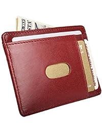 –Porta Documentos, DNI móvil, tarjeta de crédito estuche, piel de alta calidad.