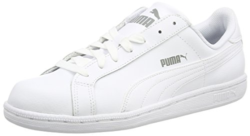 Puma Unisex Adulti Smash Canvas Scarpe da tennis bianco bianco/nero 10 UK