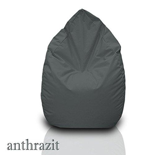Sitzsack XL anthrazit mit Füllung BeanBag Sitzkissen Bodenkissen Kissen Sessel