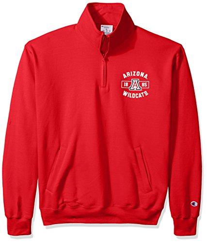 Champion NCAA Arizona Wildcats Herren Power Blend Fleece Quarter Zip Jacke, Größe M, Scarlet