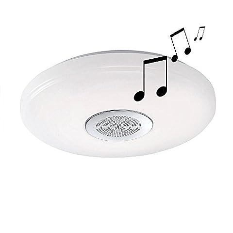 LED Decken Lampe Fernbedienung Bluetooth Lautsprecher CCT Beleuchtung dimmbar Paul