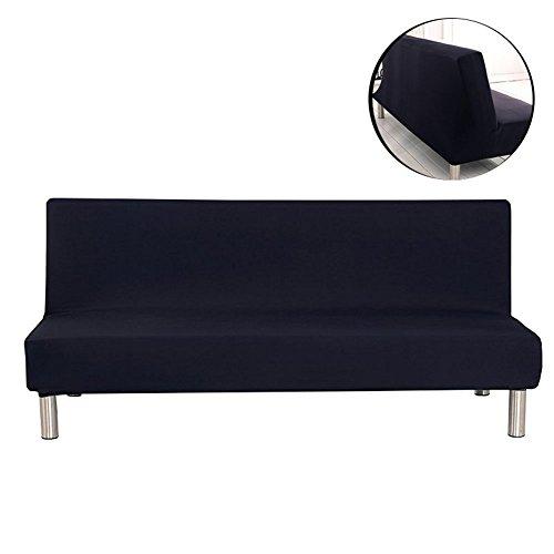 Surenhap - copridivano elasticizzato senza braccioli per divano a 3posti nero