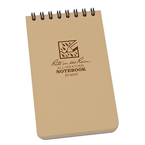 rite-in-the-rain-universal-pocket-top-spiral-notebook-tan-tan-3-x-5-inch