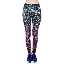 Leggings estampados para mujer tamaño de unidad S-L. Leggins de niñas con diferentes patrones impresos   Pantalones de yoga con cintura alta para usar también como pantalón deportivo
