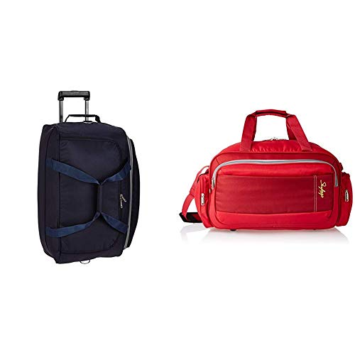 Skybags Cardiff Polyester 63.5 cms Blue Travel Duffle + Cardiff Polyester 55...